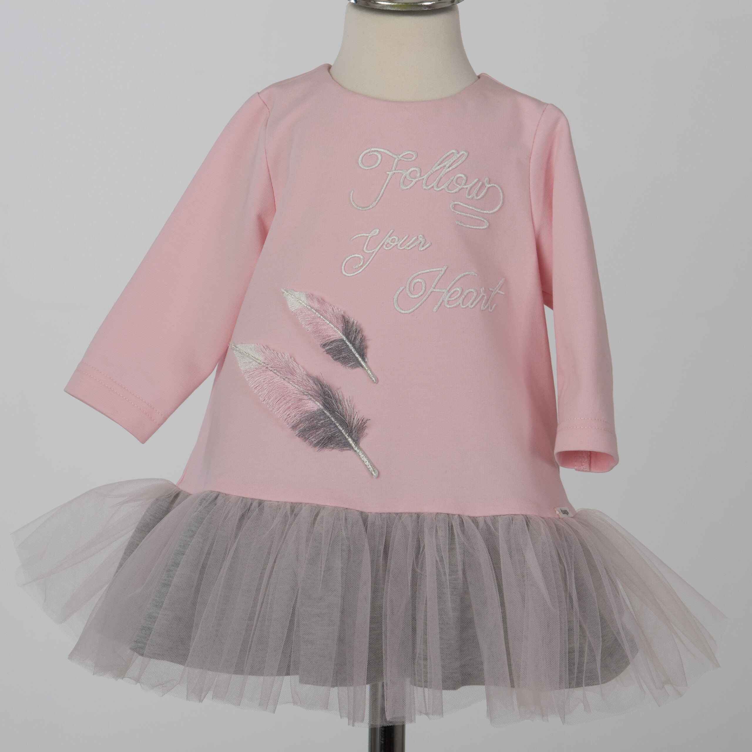 Daga Pink 'Follow Your Dreams' Dress With Feathers