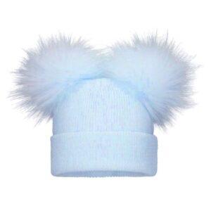Pom Pom Envy Blue Baby Knit Double