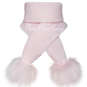 Pom Pom Envy Pink Scarf