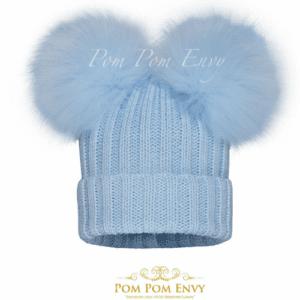 Pom Pom Envy Blue Double Dream