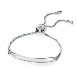 D for Diamond Adjustable Chain ID Bracelet